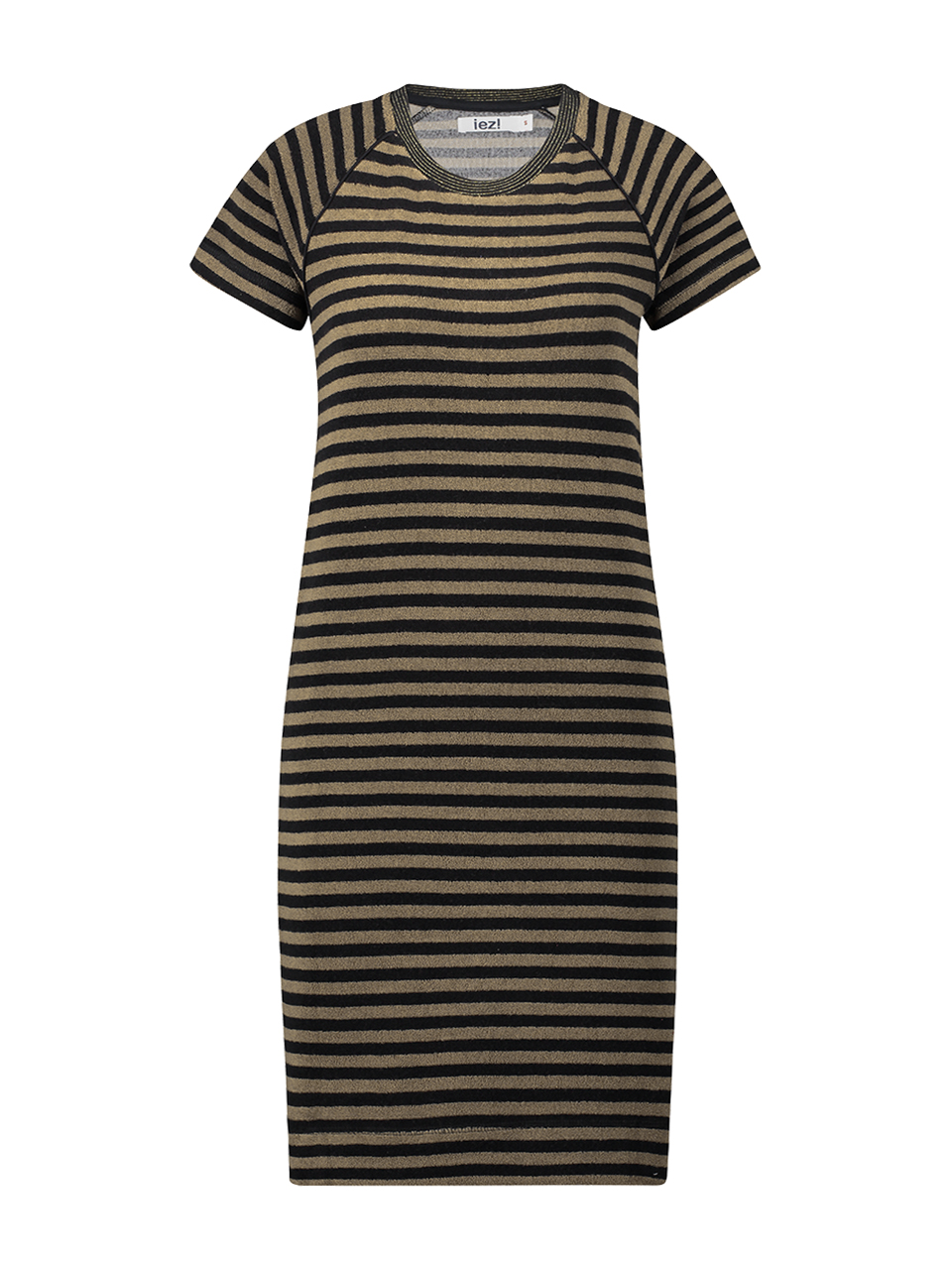 Dress terry stripe - red/camel