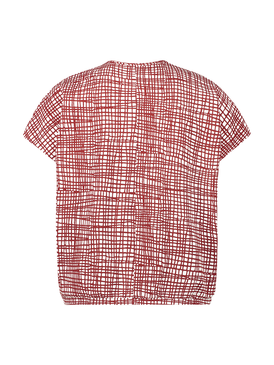 T-shirt jersey print- white/red