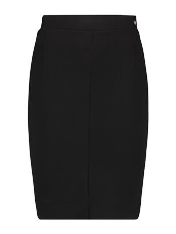 Skirt short thick knit black