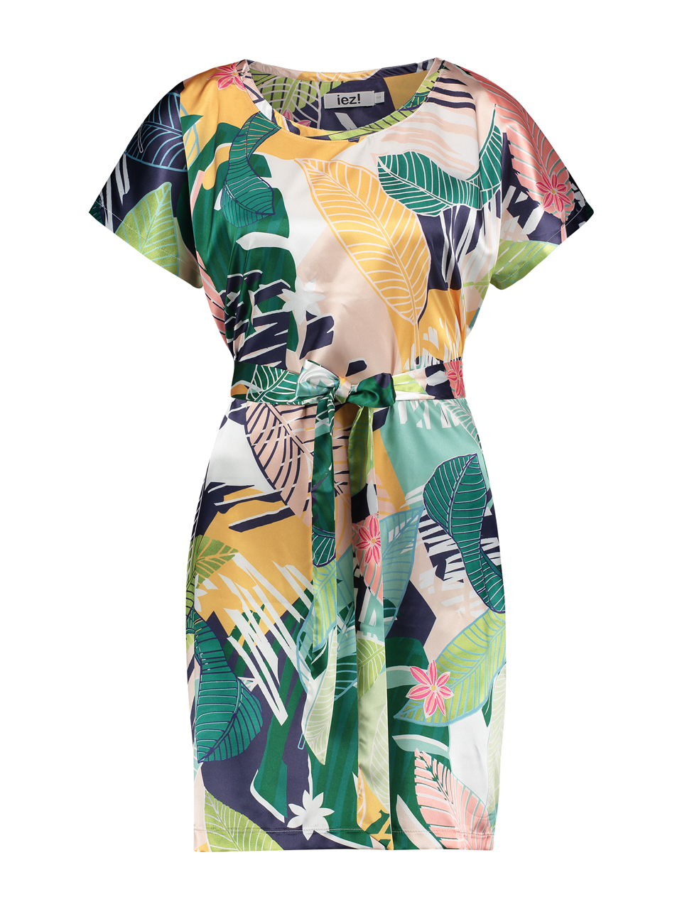 Dress / Tunic - short satin print