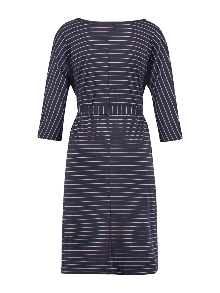 Dress long  - modal d.blue stripe