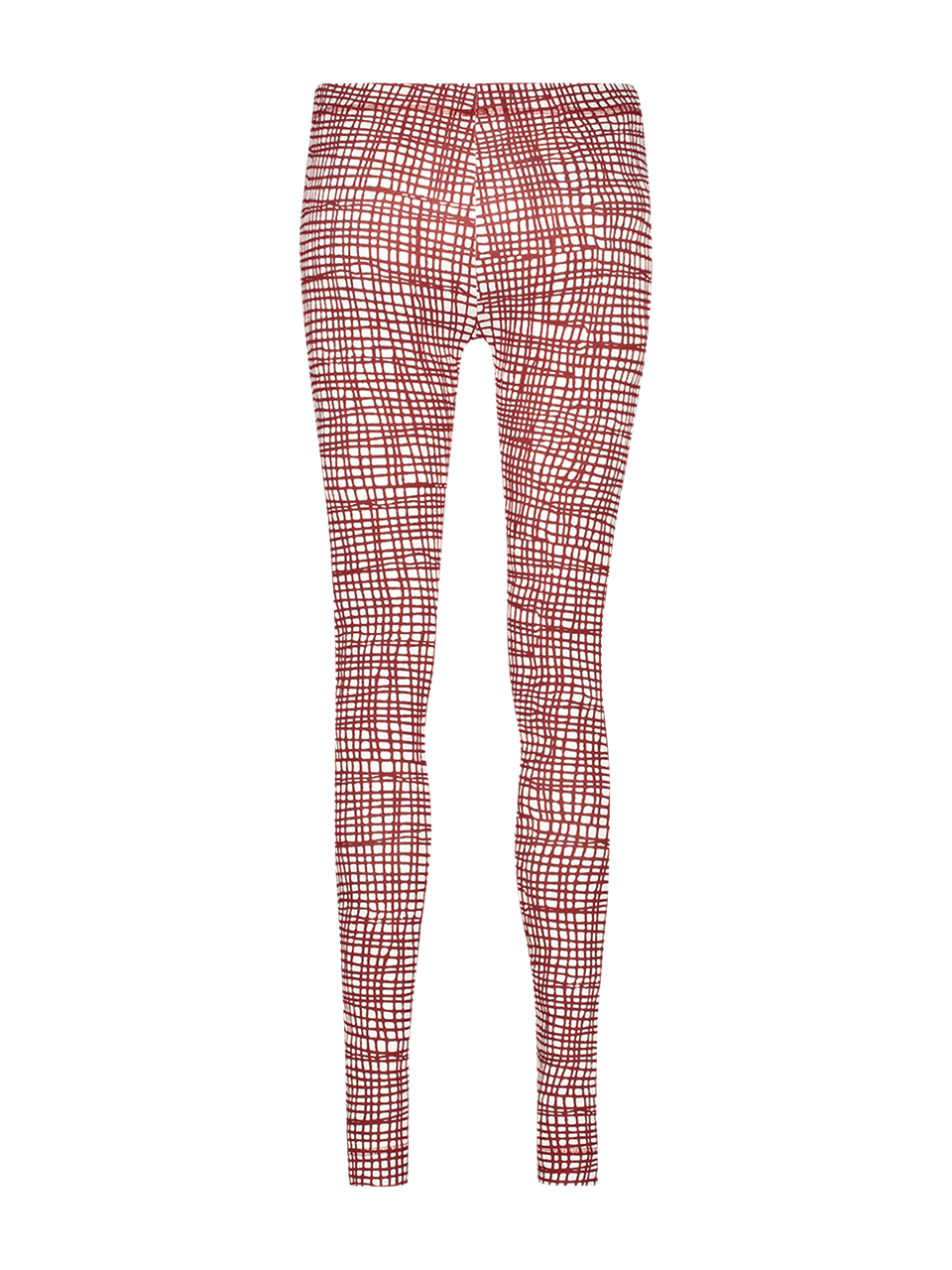 Legging jersey stripe white/red