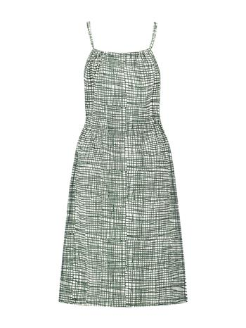Singlet Dress jersey print - white-green