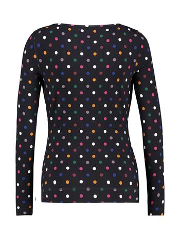 Shirt drappy jersey print - d.blue/dot