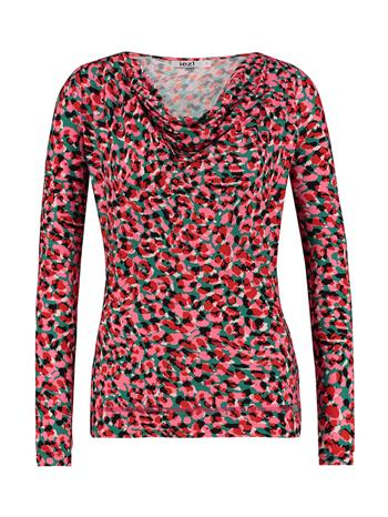 Shirt drappy jersey print - red/green/pink panter
